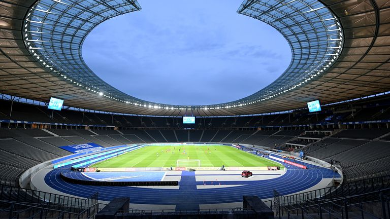 Olympiastadion hosted the Berlin derby behind closed doors