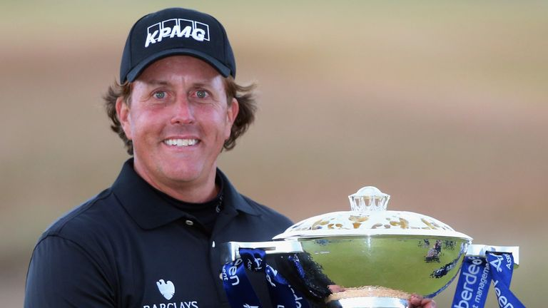 Mickelson required extra holes to win the Scottish Open in 2013