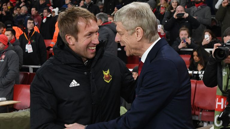 Potter's Ostersunds won at Arsene Wenger's Arsenal in the Europa League in 2018