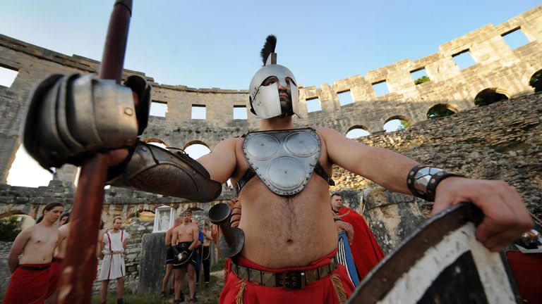 Pula Arena has hosted a number of events, including Gladiator displays