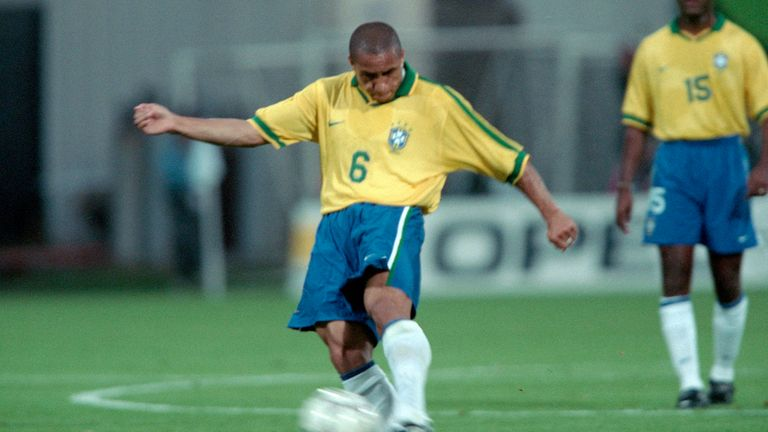 Roberto Carlos won 125 caps for Brazil and is considered to be one of the world's greatest-ever left-backs