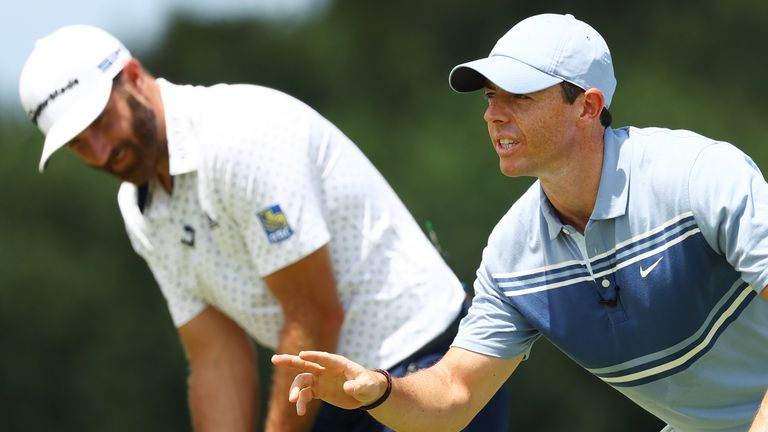 Rory McIlroy and Dustin Johnson, who won the TaylorMade Driving Relief, are both set to feature
