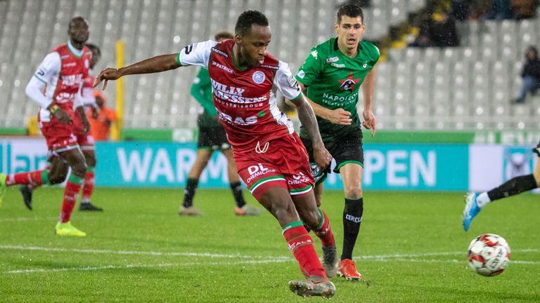Berahino scored six goals in 17 starts for Waregem