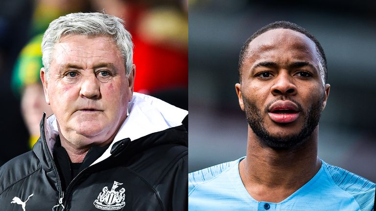 Steve Bruce and Raheem Sterling believe a mid-June return to Premier League action will be too soon for players