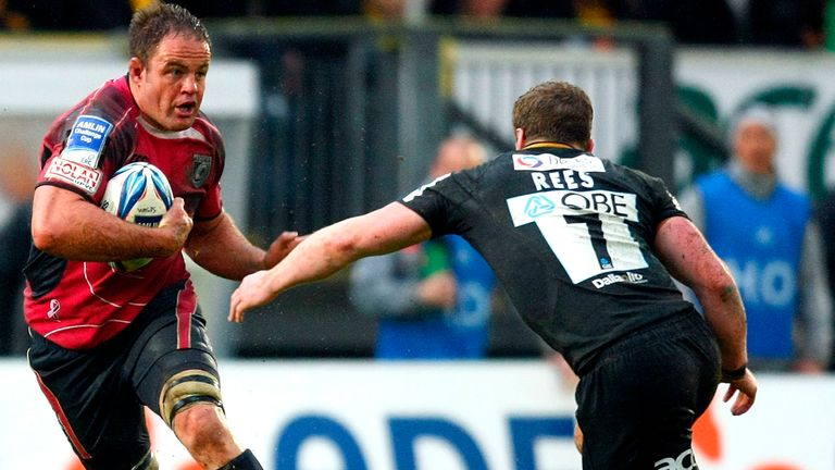 An openside flanker, Rees' career was on a steep trajectory for success but for injuries