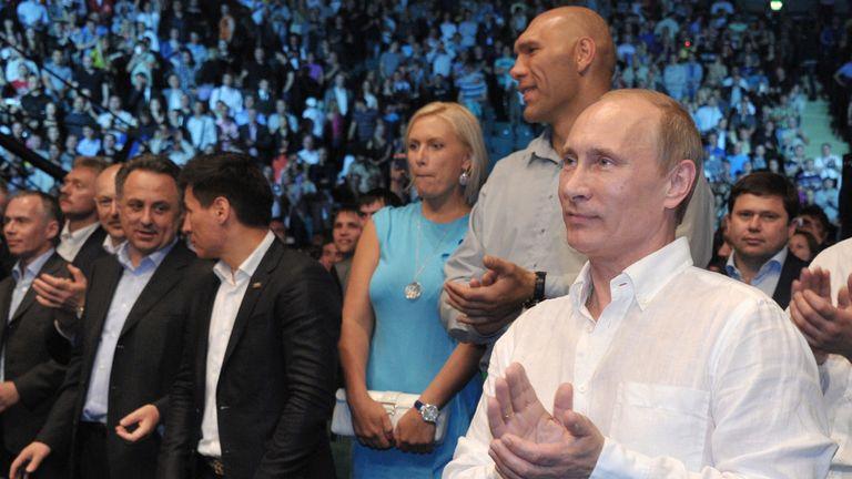 Valuev with Vladimir Putin