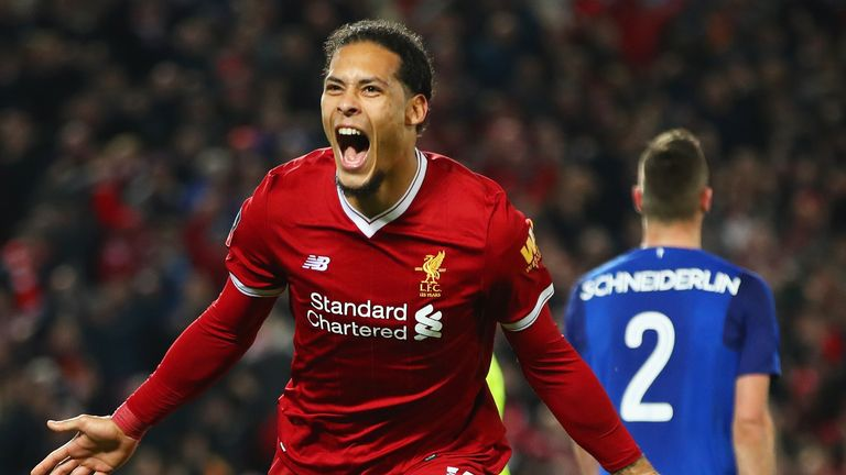 Van Dijk scored the winner on his Liverpool debut against Everton in the FA Cup third-round in 2018