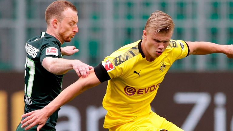 Erling Haaland endured a rare blank for Borussia Dortmund