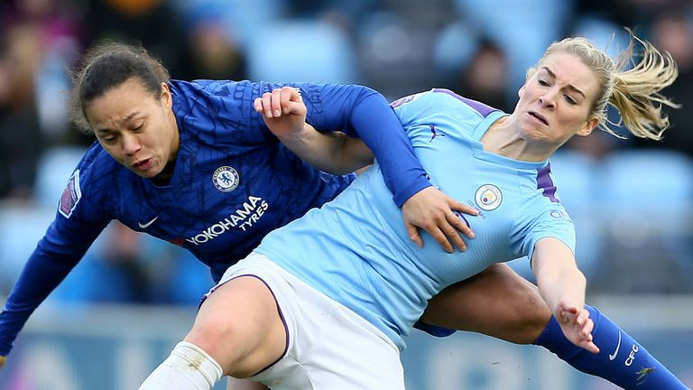 Chelsea will leapfrog Manchester City if the WSL is decided on a points-per-game basis
