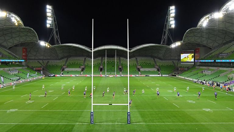 AAMI Park will not host Melbourne's round two Super Rugby AU match against the Reds after the Queensland government's crackdown on Victorian sports teams
