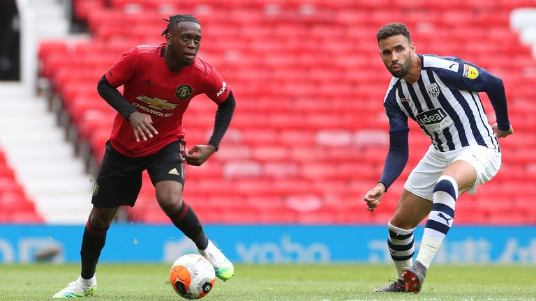 Aaron Wan-Bissaka played during the friendly games