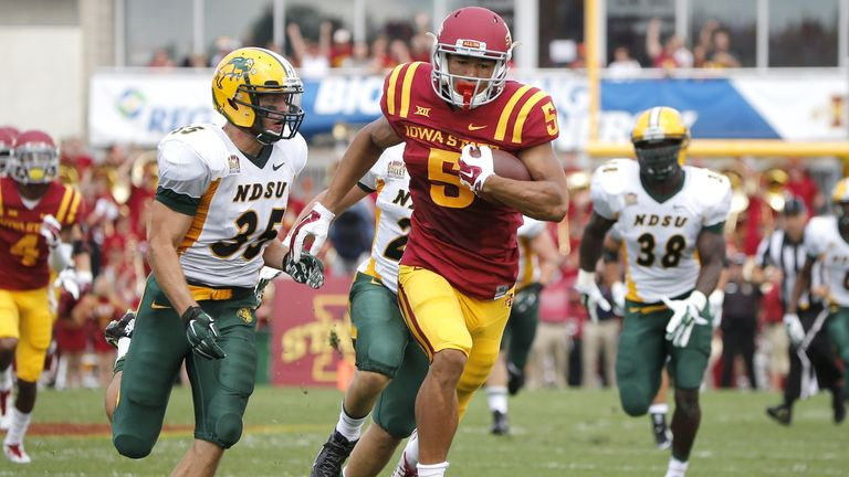 Lazard in action for Iowa State against North Dakota State in August 2014