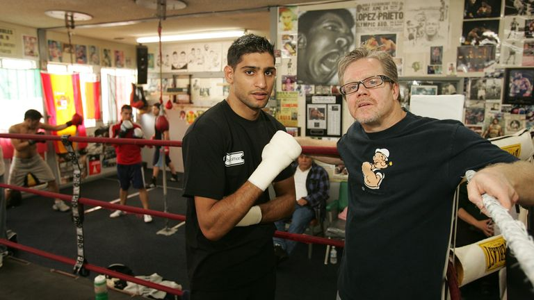 Khan and ex-trainer Roach