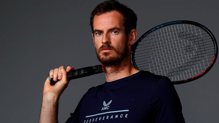 Andy Murray prepares for Schroders Battle of the Brits at the National Tennis Centre