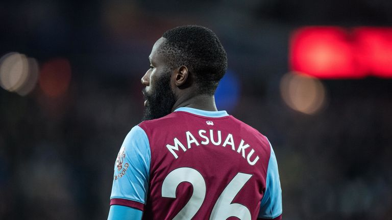 Arthur Masuaku has been back on the grass as he steps up his recovery from an ankle problem