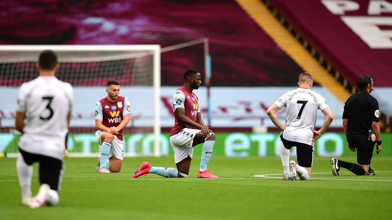 Premier League players have continued to take the knee in support of Black Lives Matter throughout the restart