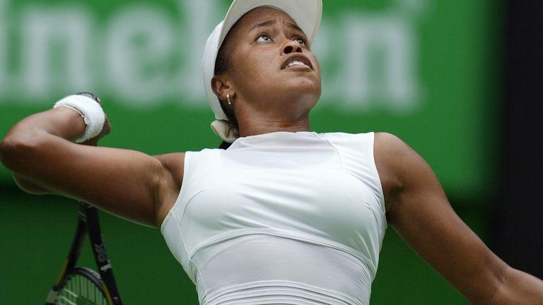 Chanda Rubin in action at the Australian Open in 2004