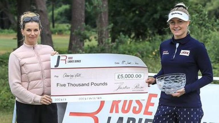 Charley Hull claimed the silverware in the inaugural event of the Rose Ladies Series in Hampshire, and the Solheim Cup star was delighted to be back competing