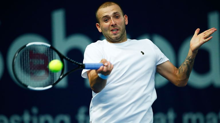Dan Evans made a winning start to his campaign in Roehampton this week