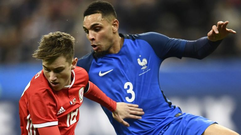 The midfielder made his senior international debut against France