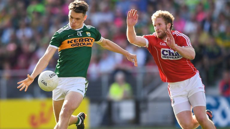 David Clifford in action against Ruairí Deane during the 2018 Munster final