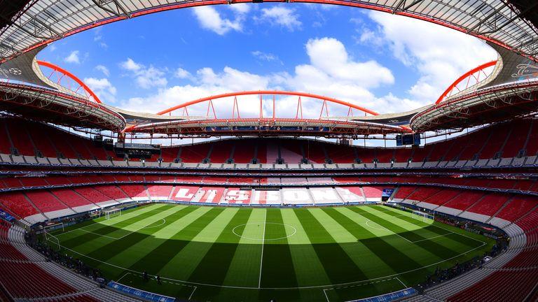 Lisbon's Estadio da Luz has a capacity of 65,000