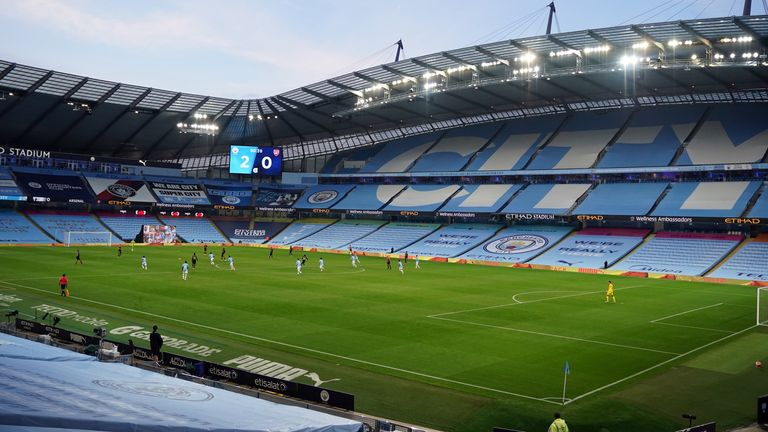 The Etihad Stadium will host Manchester City's game against Liverpool