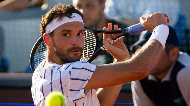 Grigor Dimitrov confirmed his positive test in Monaco a day after playing Borna Coric in Croatia