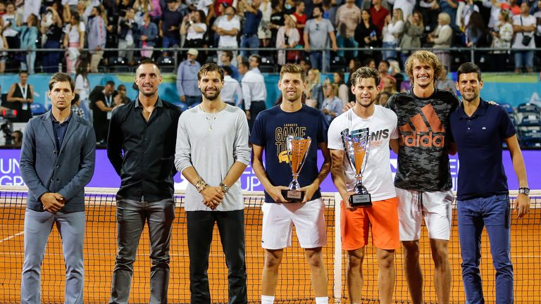 Zverev played alongside Novak Djokovic, Dominic Thiem and Grigor Dimitrov on the Adria Tour