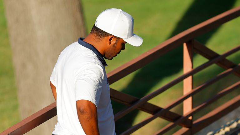 Varner's tee shot at the tenth finished on a bridge
