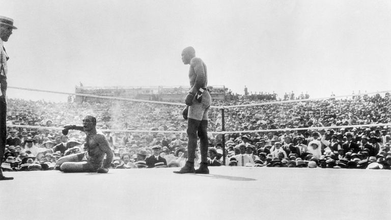 Jack Johnson, the first African-American world heavyweight champion, won a fight in Sydney on Boxing Day 1908