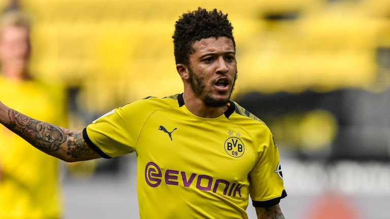 Jadon Sancho remains the top transfer priority for Manchester United