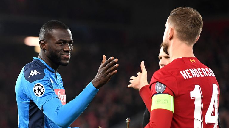 Kalidou Koulibaly played both games against Liverpool in the Champions League group stage this season