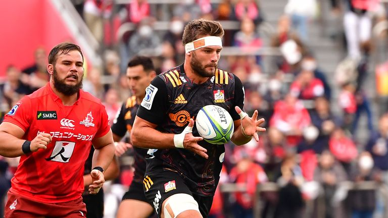 Lachlan Boshier in action for the Chiefs
