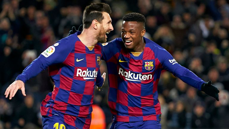 The 17-year-old has been drawing comparisons with team-mate Lionel Messi