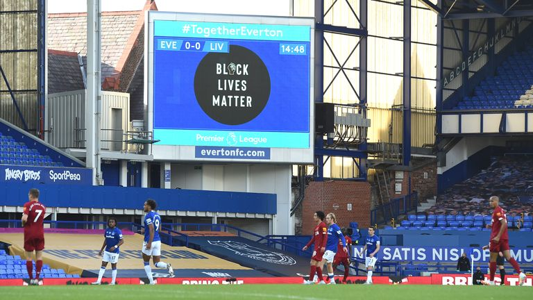 Everton drew 0-0 with Liverpool at Goodison Park on Sunday,  a fixture which was previously on a list of remaining games recommended to be played at a neutral venue