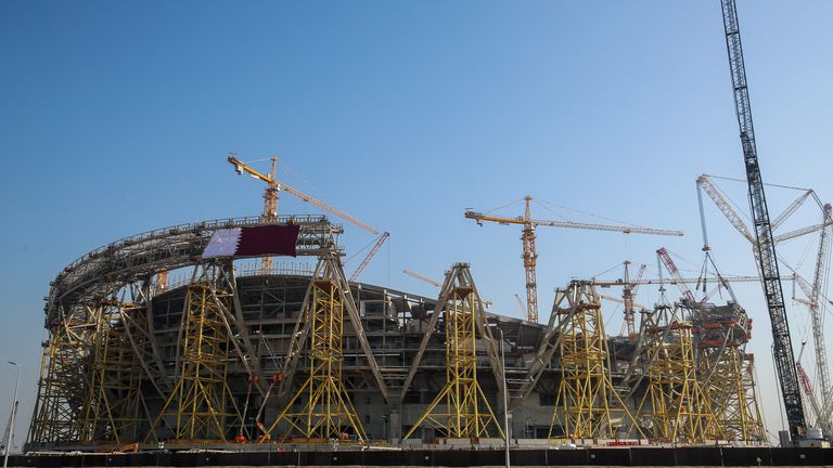 The Lusail Stadium is the biggest stadium under construction for the World Cup in 2022, with a planned capacity of 80,000