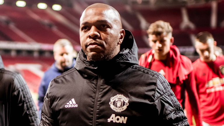 Fortune is assistant manager of Manchester United's U23s