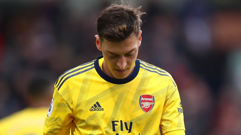 Mesut Ozil did not feature against Manchester City