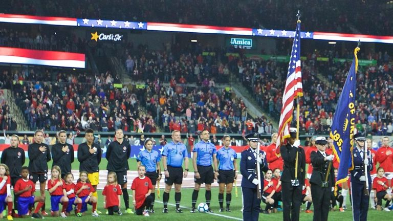 US Soccer to review 'no kneeling' anthem policy
