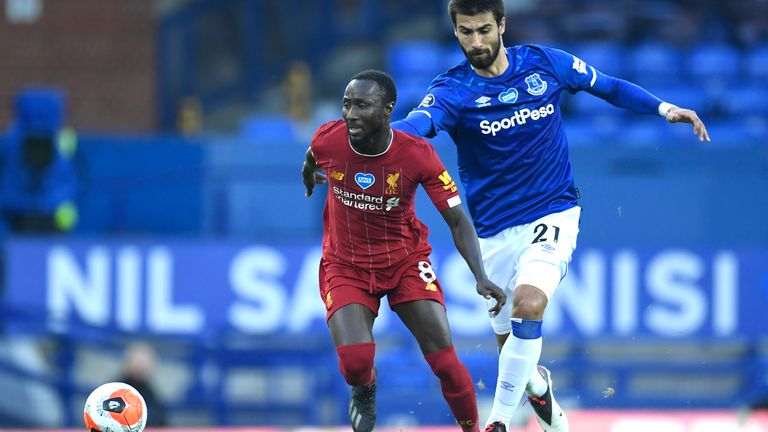Naby Keita delivered one of the his best Premier League performances in Sunday's 0-0 draw at Everton