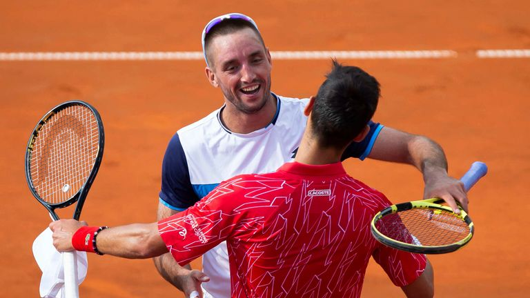 Viktor Troicki played in the first leg of the Adria Tour staged at Novak Djokovic's tennis complex
