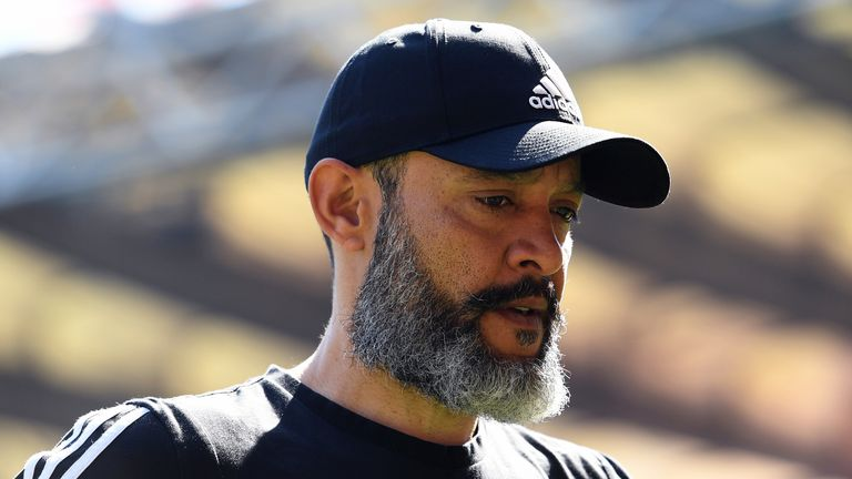 Wolves manager Nuno Espirito Santo is the only BAME manager in the Premier League and one of just six working across the 91 league clubs in England