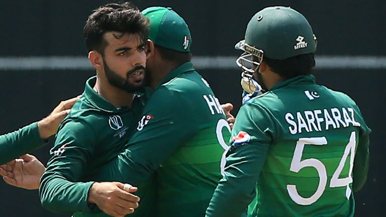 Shadab Khan (left) has tested negative for coronavirus but has not yet travelled having tested positive initially