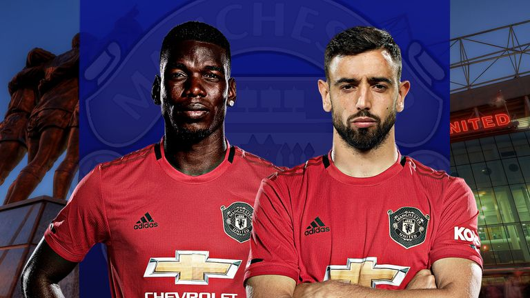 Manchester United's star midfielders Pogba and Fernandes