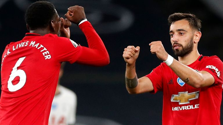 Paul Pogba and Bruno Fernandes have impressed together in the Manchester United midfield
