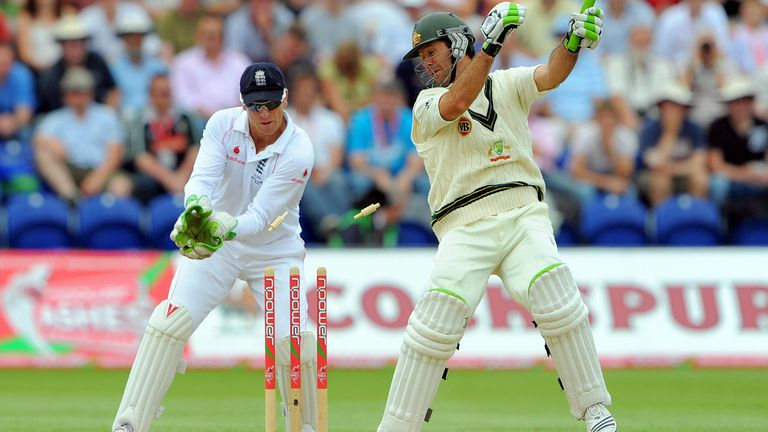 Ricky Ponting was bowled for 150 by Monty Panesar - but it was another day of toil for England