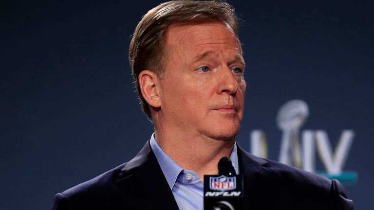 Roger Goodell said he would be in touch with players who had voiced concerns about the league