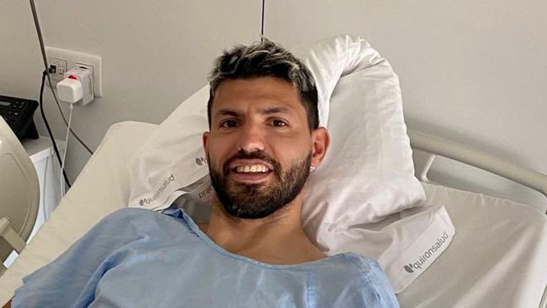 Man Citys Aguero set for surgery in Barcelona for knee injury Guardiola