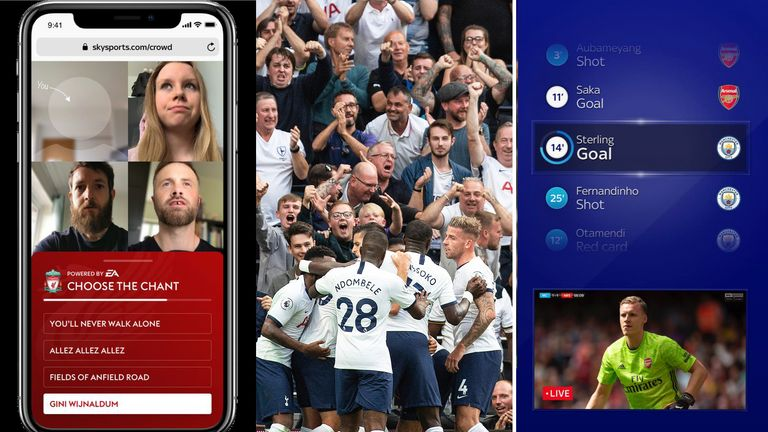 In Sky Sports' chosen Fanzone and Watchalong games, fans will be able to vote for their choice of song with the 'Choose a Chant' feature...
